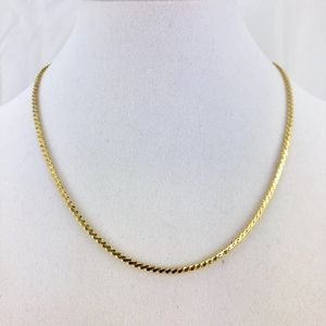 Jewelry - 2mm 18K Gold Plate Serpentine Choker Necklace NWOT